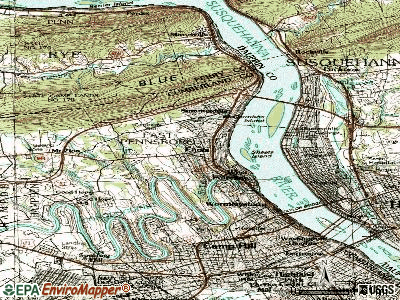 Ernest topographic map