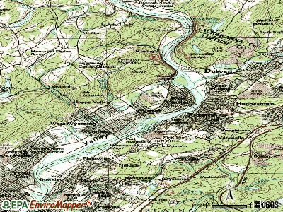 Exeter topographic map