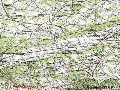 Exton topographic map