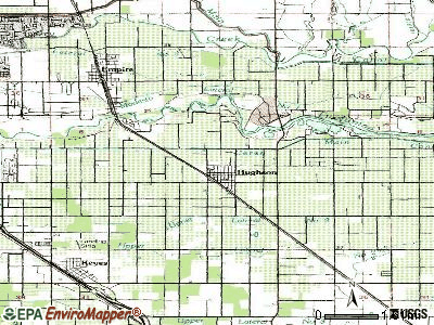 Hughson topographic map