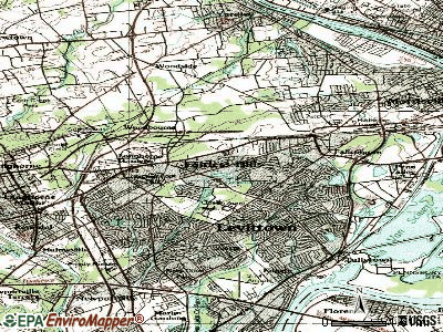 Fairless Hills topographic map