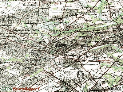 Feasterville-Trevose topographic map