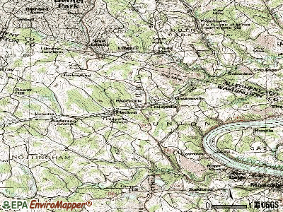 Finleyville topographic map