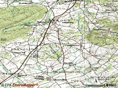 Franklintown topographic map