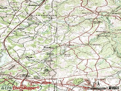 Friedens topographic map