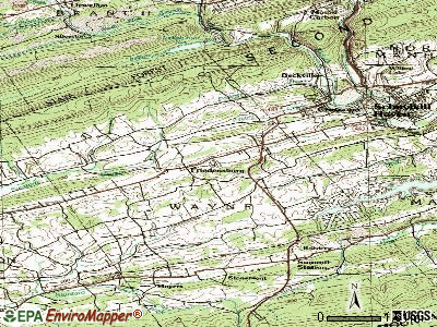 Friedensburg topographic map