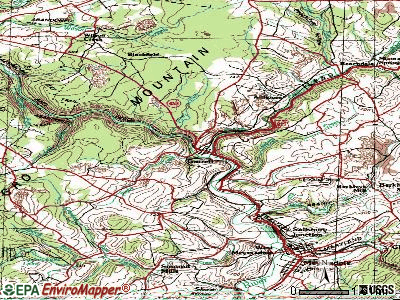 Garrett topographic map