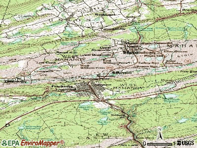 Gilberton topographic map