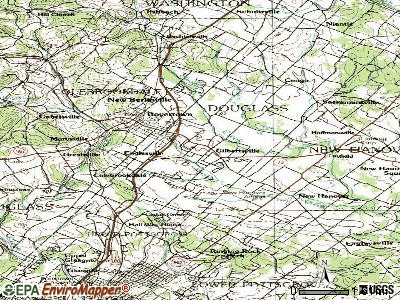 Gilbertsville topographic map