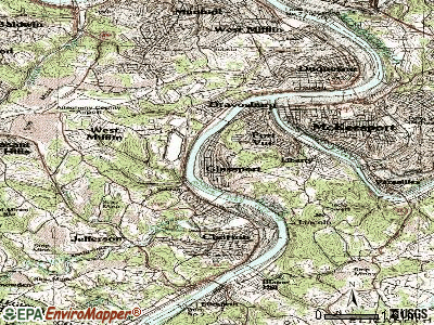 Glassport topographic map