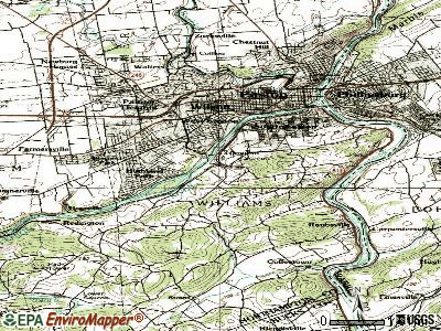 Glendon topographic map