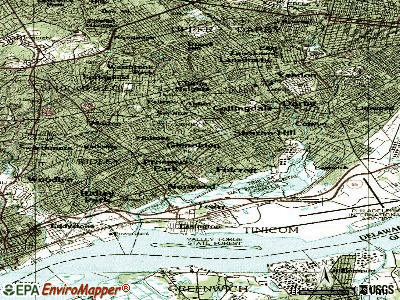 Glenolden topographic map