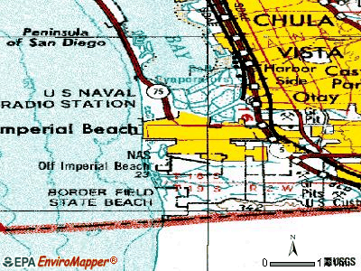 Imperial Beach topographic map