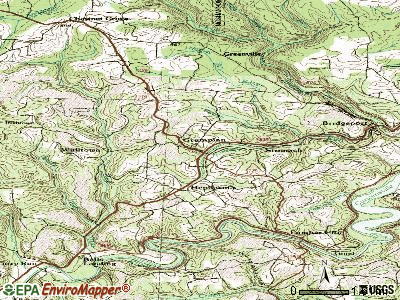 Grampian topographic map