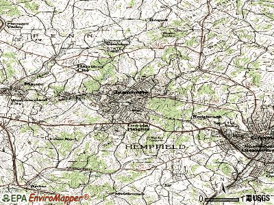 Grapeville topographic map