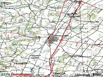 Greencastle topographic map