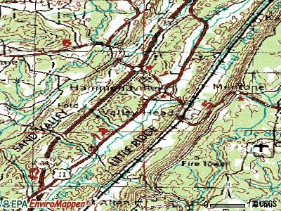 Hammondville topographic map