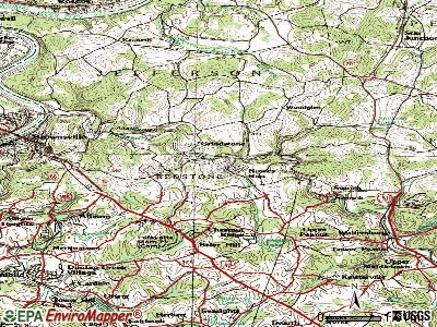 Grindstone-Rowes Run topographic map