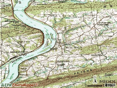 Halifax topographic map