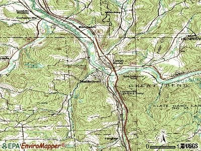 Hallstead topographic map