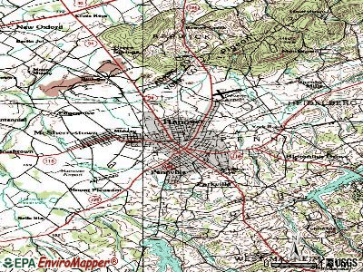 Hanover topographic map