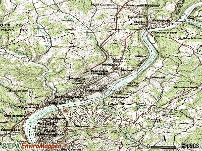 Harrison Township topographic map
