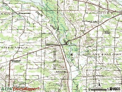 Hartstown topographic map