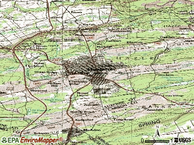 Hazleton topographic map