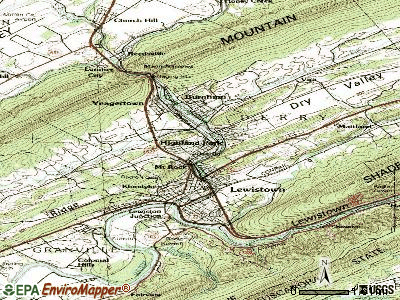 Highland Park topographic map