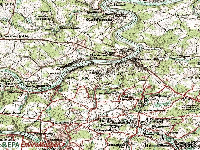 Hiller topographic map