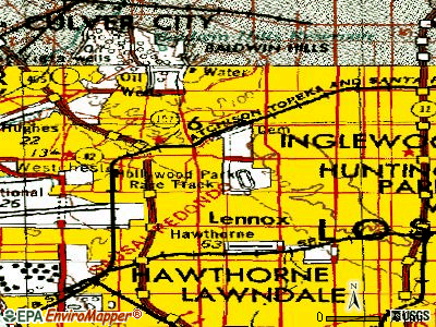 Inglewood topographic map