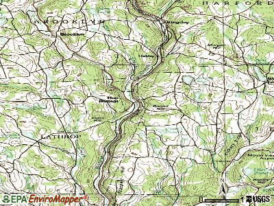Hookstown topographic map