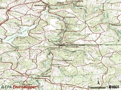 Hooversville topographic map