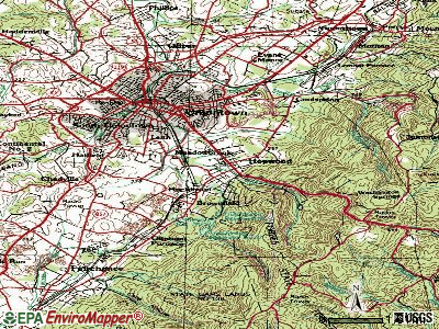 Hopwood topographic map