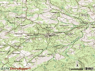 Houtzdale topographic map