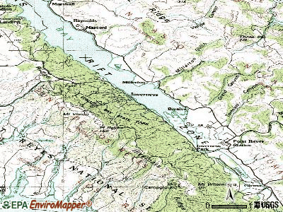 Inverness topographic map