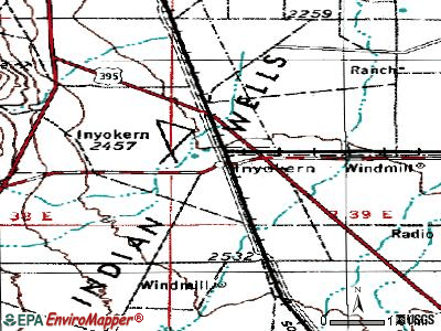Inyokern topographic map