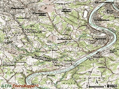 Jefferson Hills topographic map