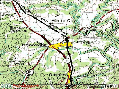 Hanceville topographic map