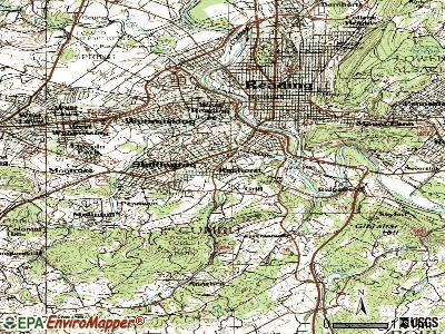 Kenhorst topographic map