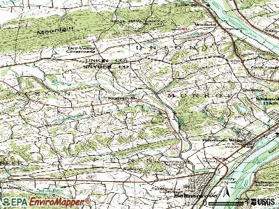Kratzerville topographic map