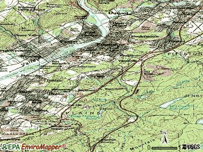 Laflin topographic map