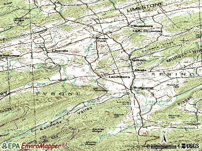 Landisburg topographic map