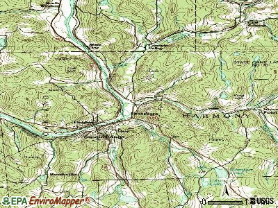 Lanesboro topographic map