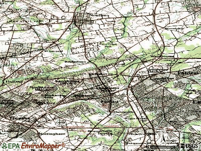 Langhorne topographic map