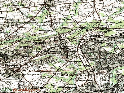Langhorne Manor topographic map
