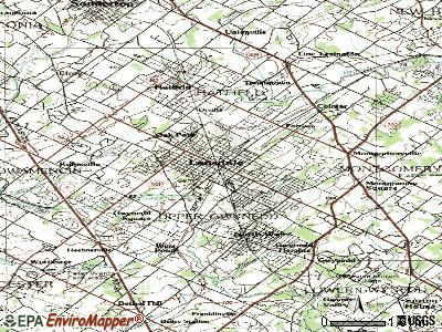 Lansdale topographic map