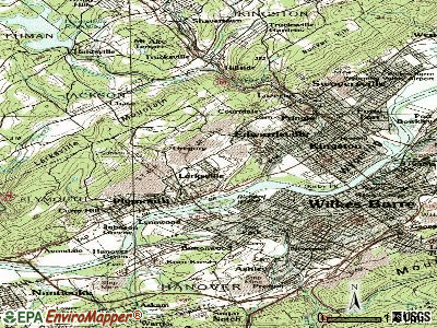 Larksville topographic map