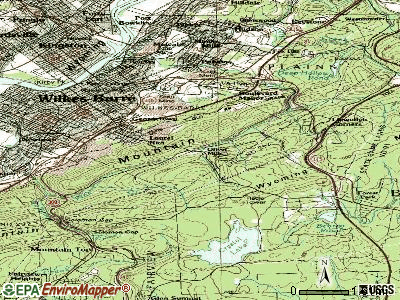 Laurel Run topographic map
