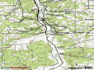 Lawrenceville topographic map